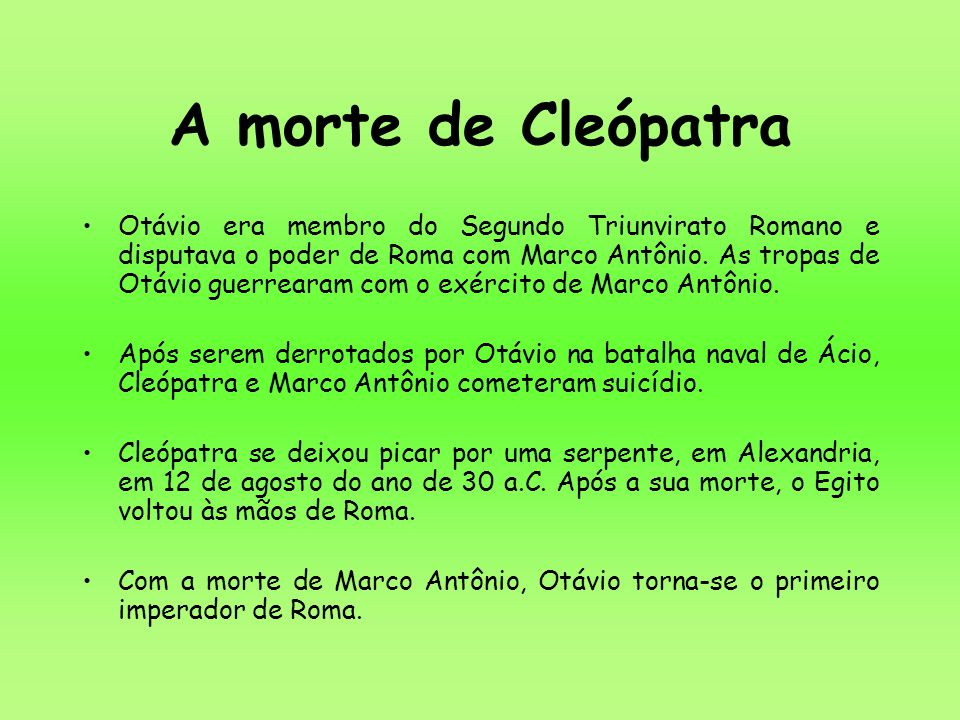 A morte de Cleópatra