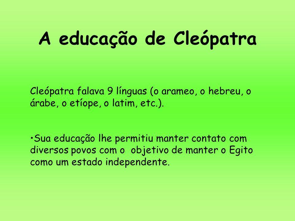 A educação de Cleópatra