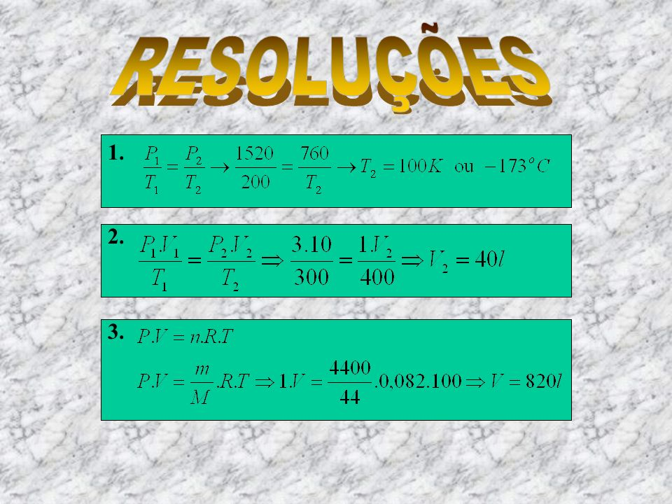 RESOLUÇÕES 1. 2. 3.