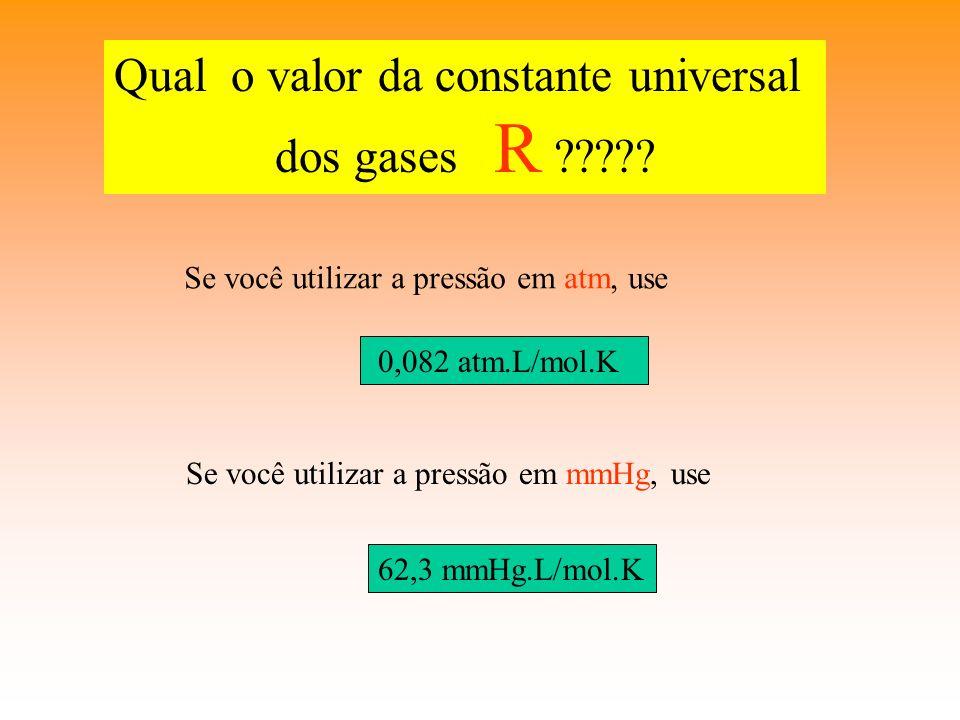 Qual o valor da constante universal