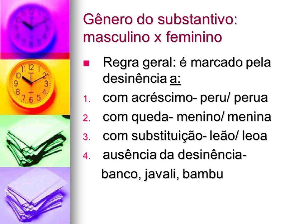 Gênero do substantivo: masculino x feminino
