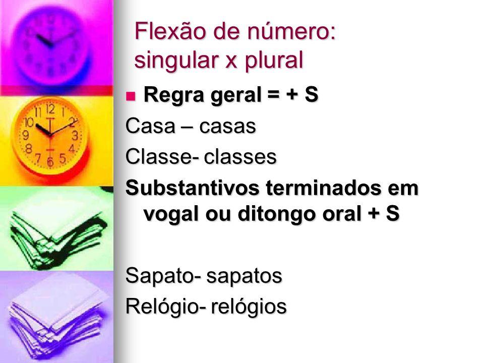 Flexão de número: singular x plural
