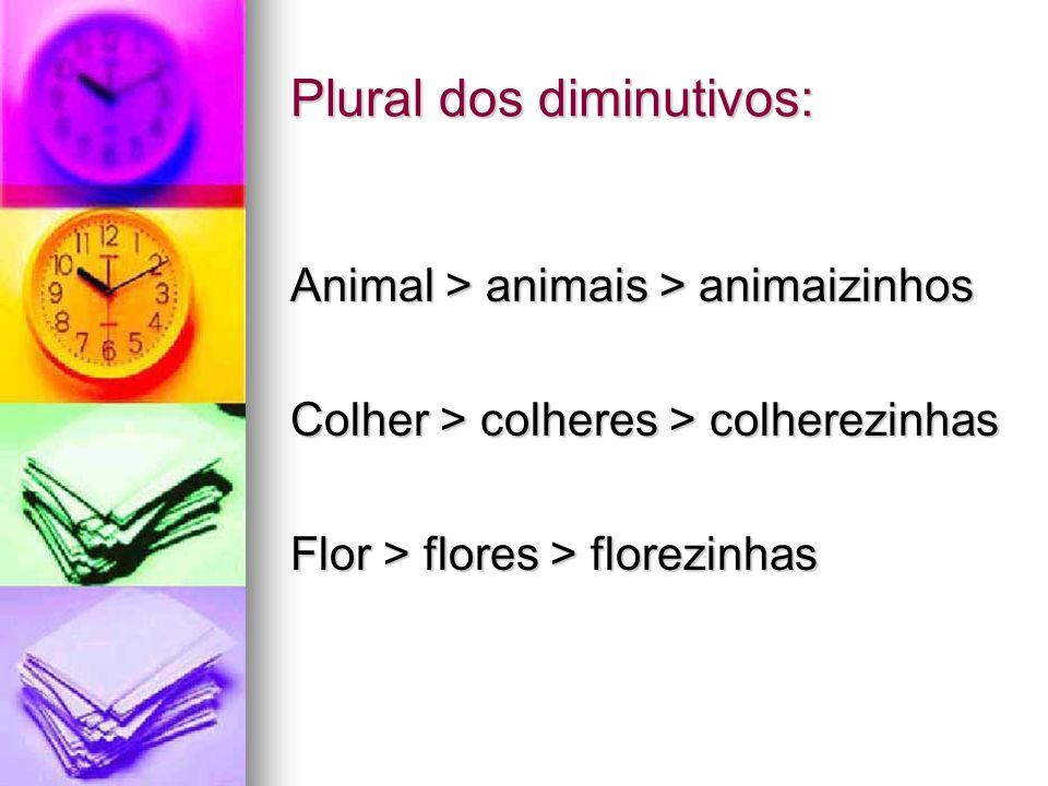 Plural dos diminutivos: