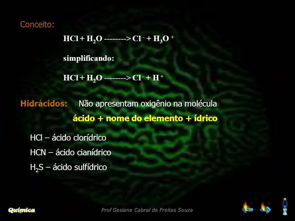 ácido + nome do elemento + ídrico