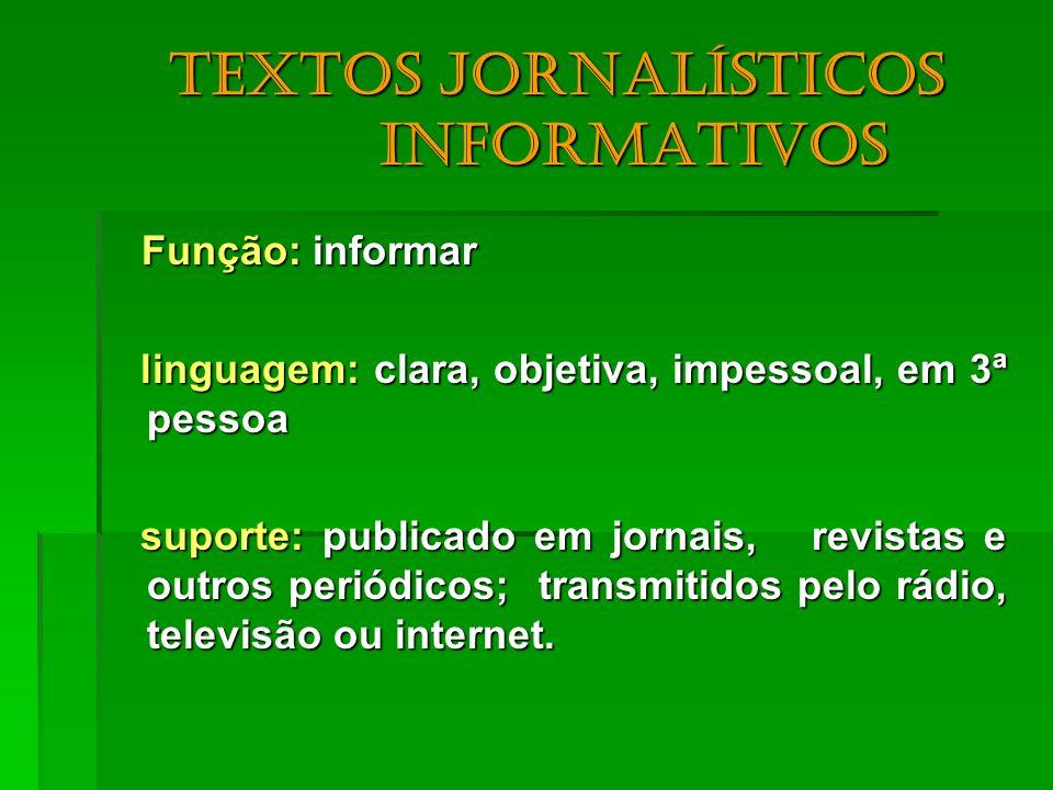 Textos jornalísticos informativos