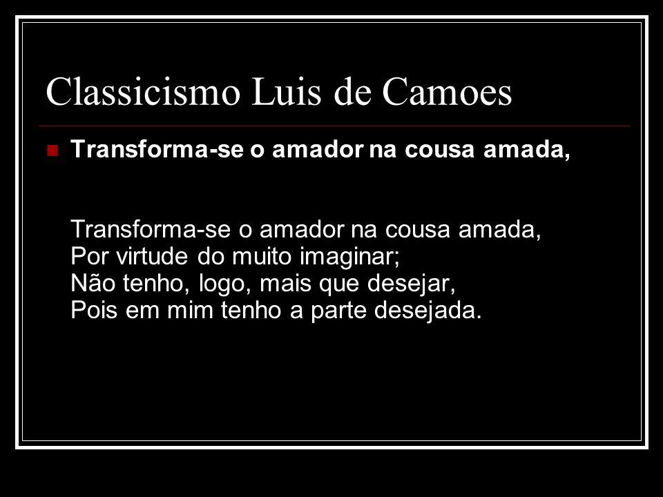 Classicismo Luis de Camoes