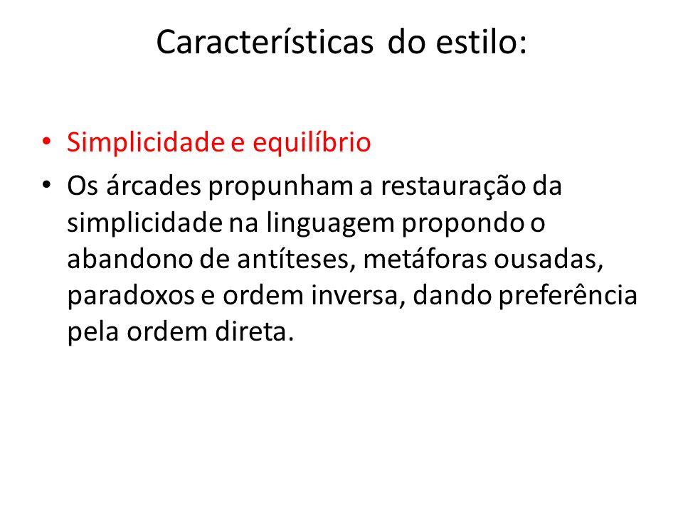 Características do estilo: