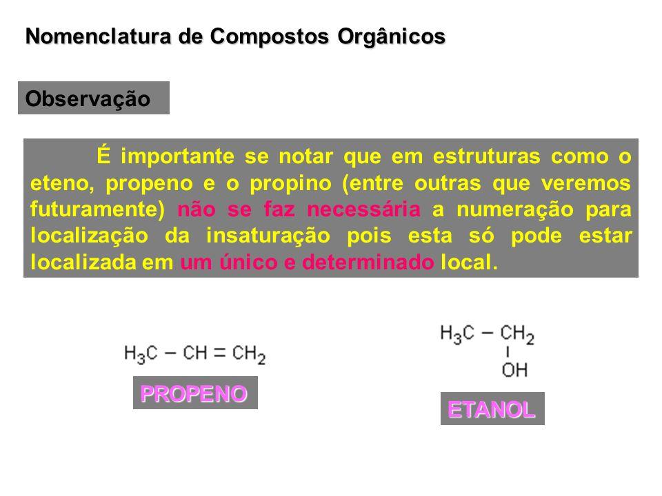 Nomenclatura de Compostos Orgânicos