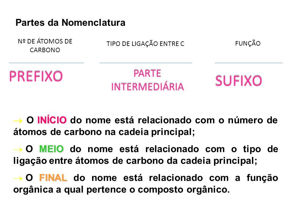 PREFIXO SUFIXO PARTE INTERMEDIÁRIA Partes da Nomenclatura