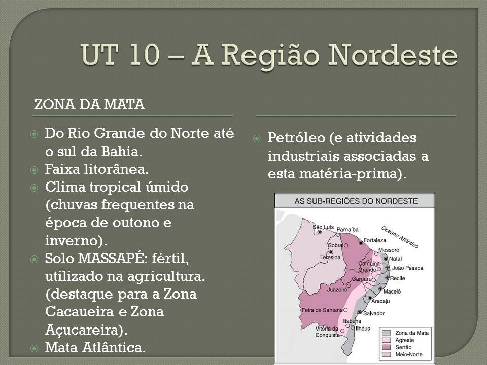 UT 10 – A Região Nordeste Zona da Mata