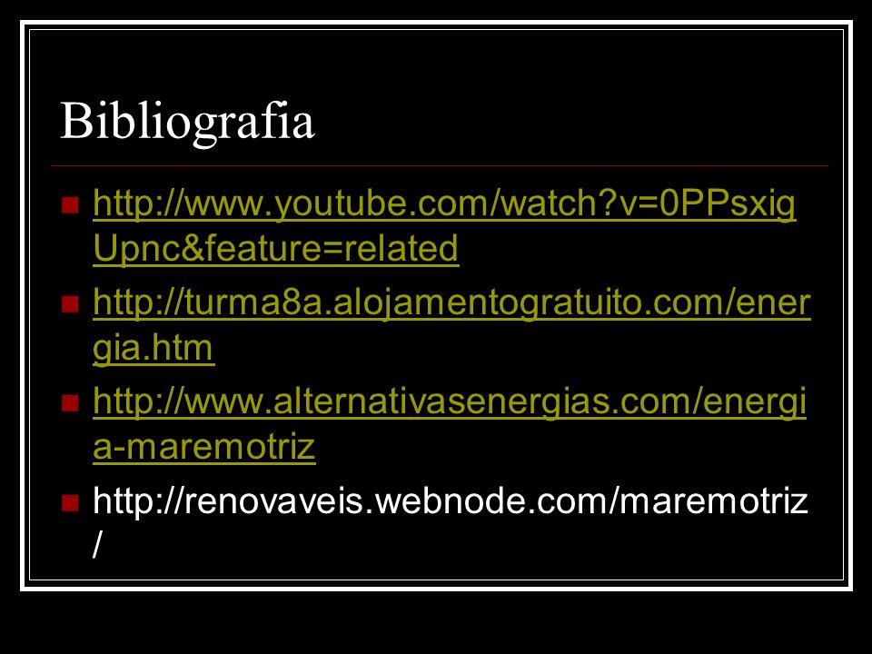 Bibliografia http://www.youtube.com/watch v=0PPsxigUpnc&feature=related. http://turma8a.alojamentogratuito.com/energia.htm.