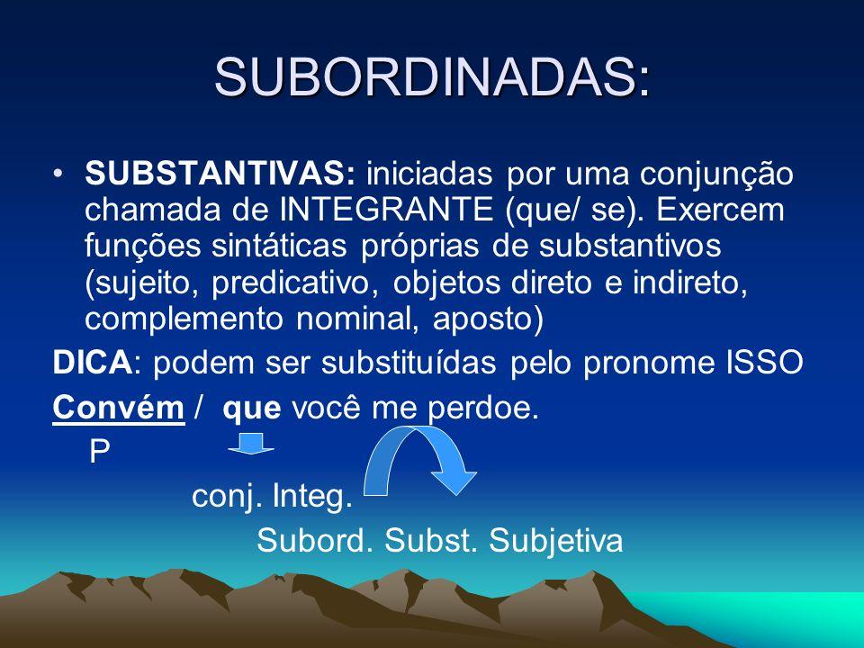 SUBORDINADAS: