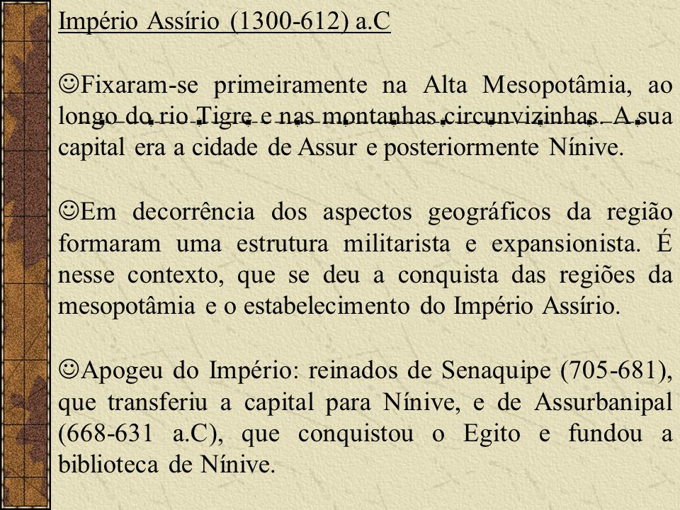 Império Assírio (1300-612) a.C