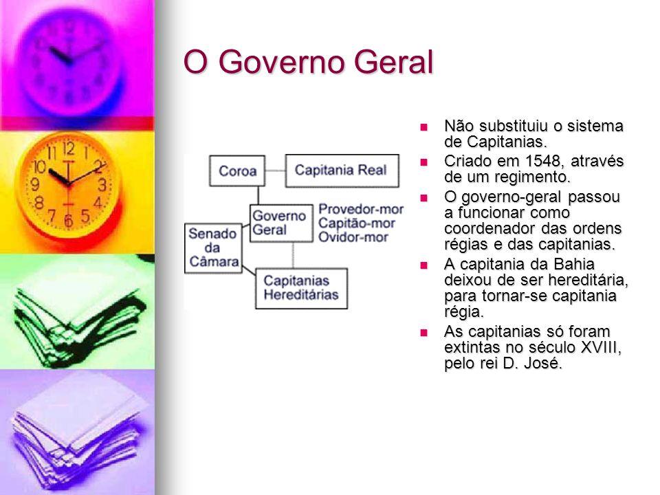 O Governo Geral Não substituiu o sistema de Capitanias.