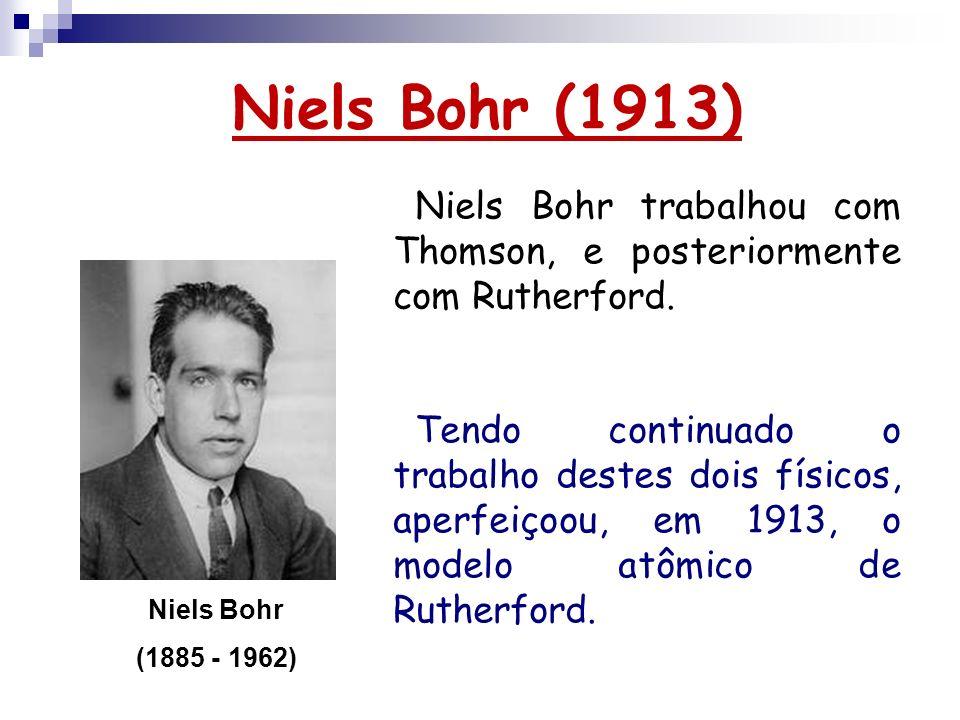 Niels Bohr (1913)Niels Bohr trabalhou com Thomson, e posteriormente com Rutherford.