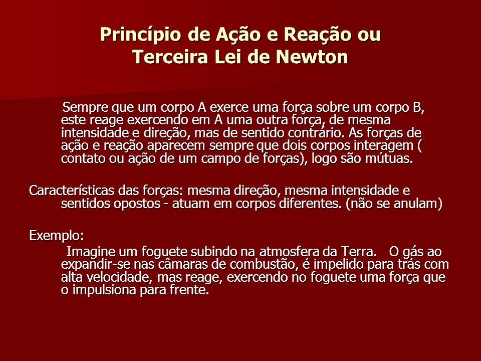 Princípio de Ação e Reação ou Terceira Lei de Newton
