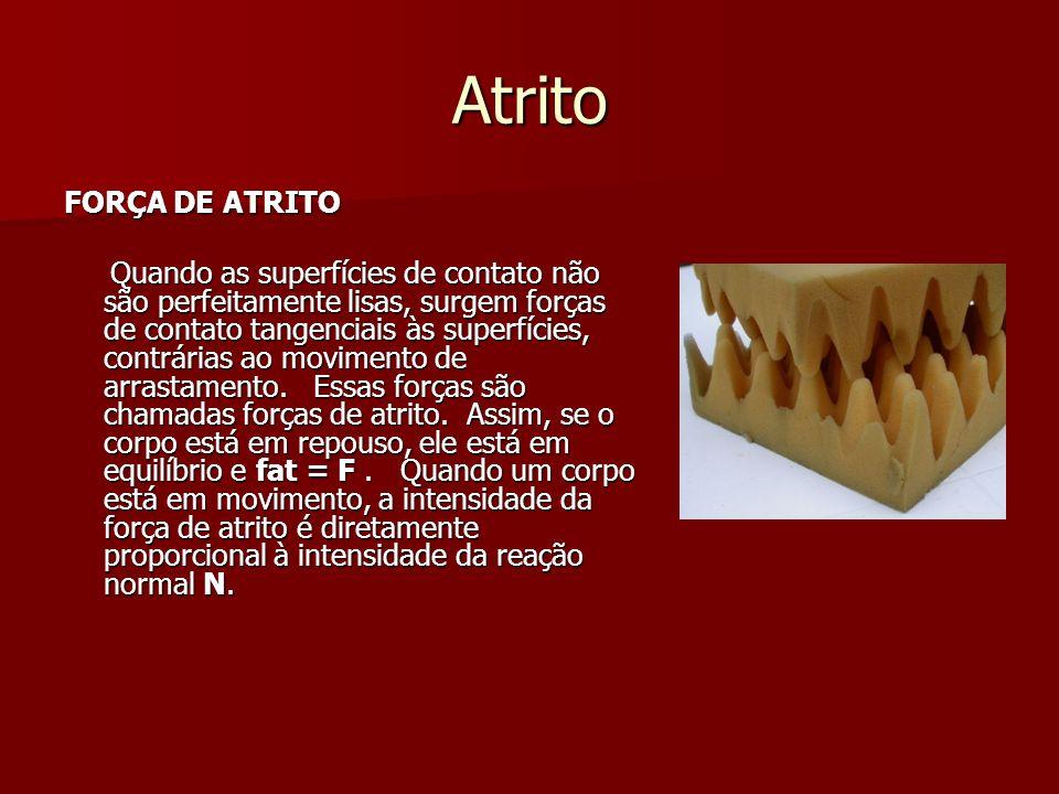 Atrito FORÇA DE ATRITO.