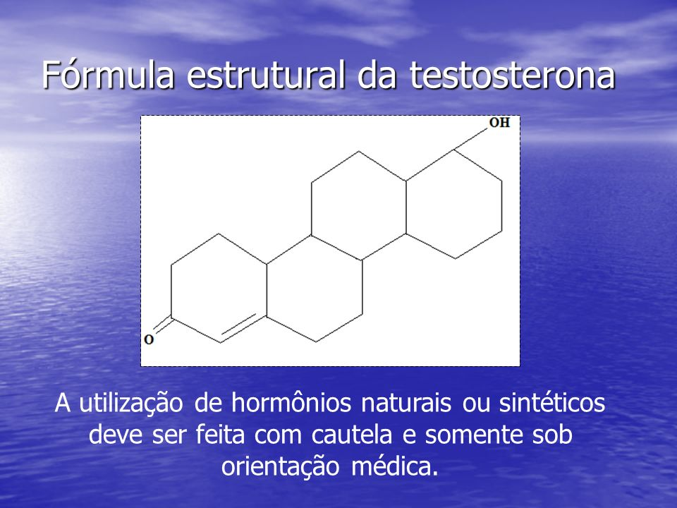 Fórmula estrutural da testosterona