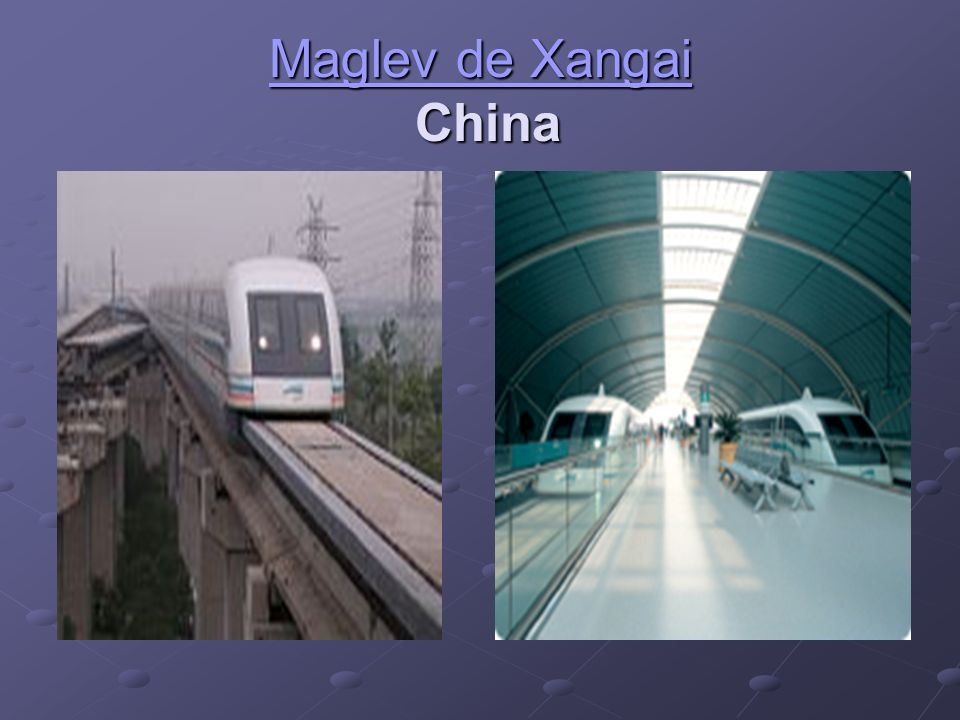 Maglev de Xangai China .