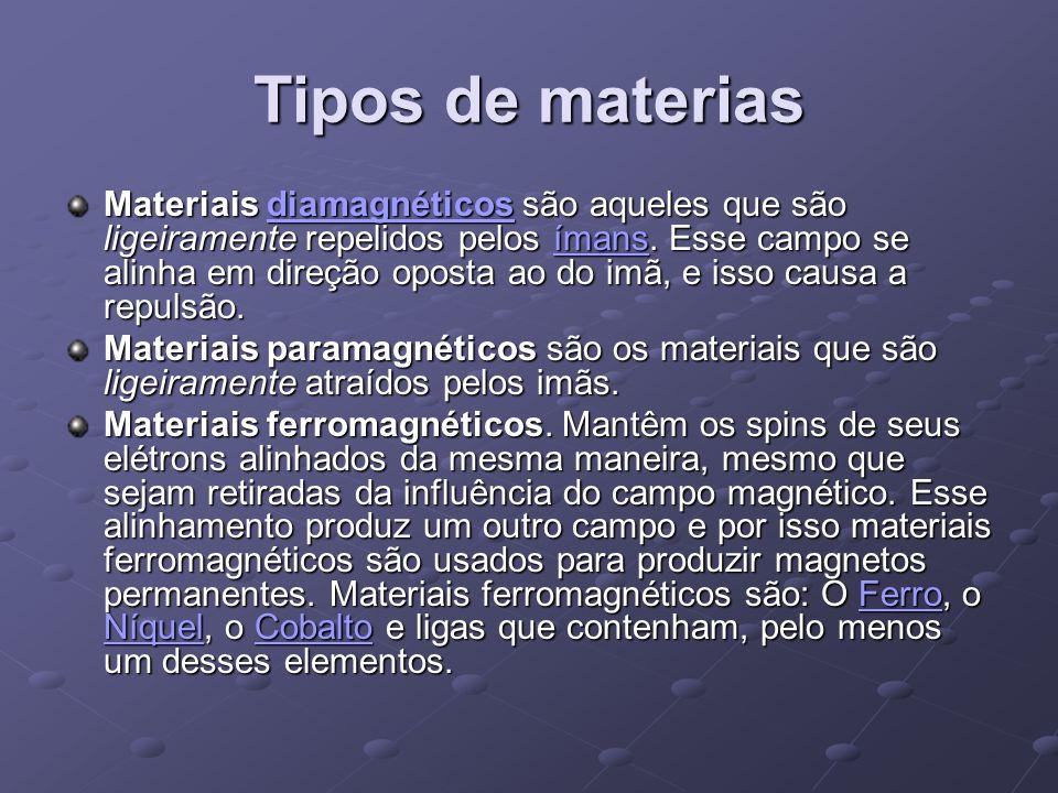 Tipos de materias