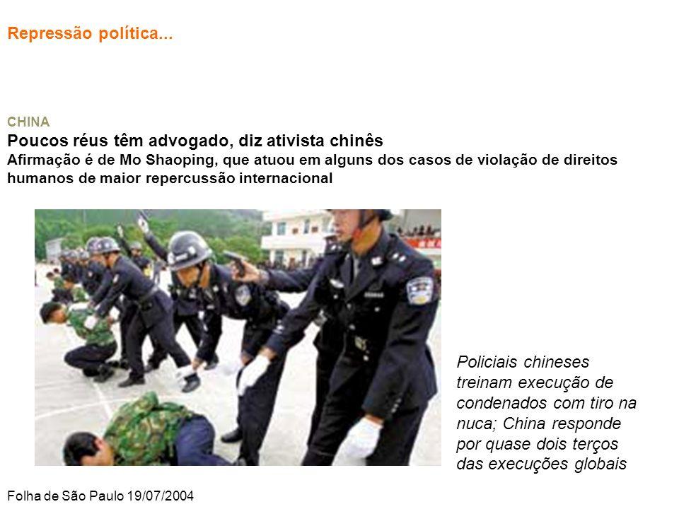Repressão política...