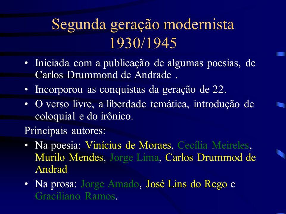 Segunda geração modernista 1930/1945