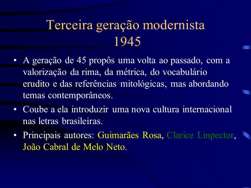 Terceira geração modernista 1945