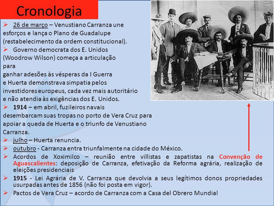 Cronologia 26 de março – Venustiano Carranza une