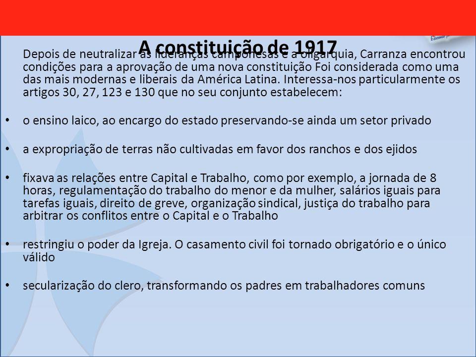 A constituição de 1917