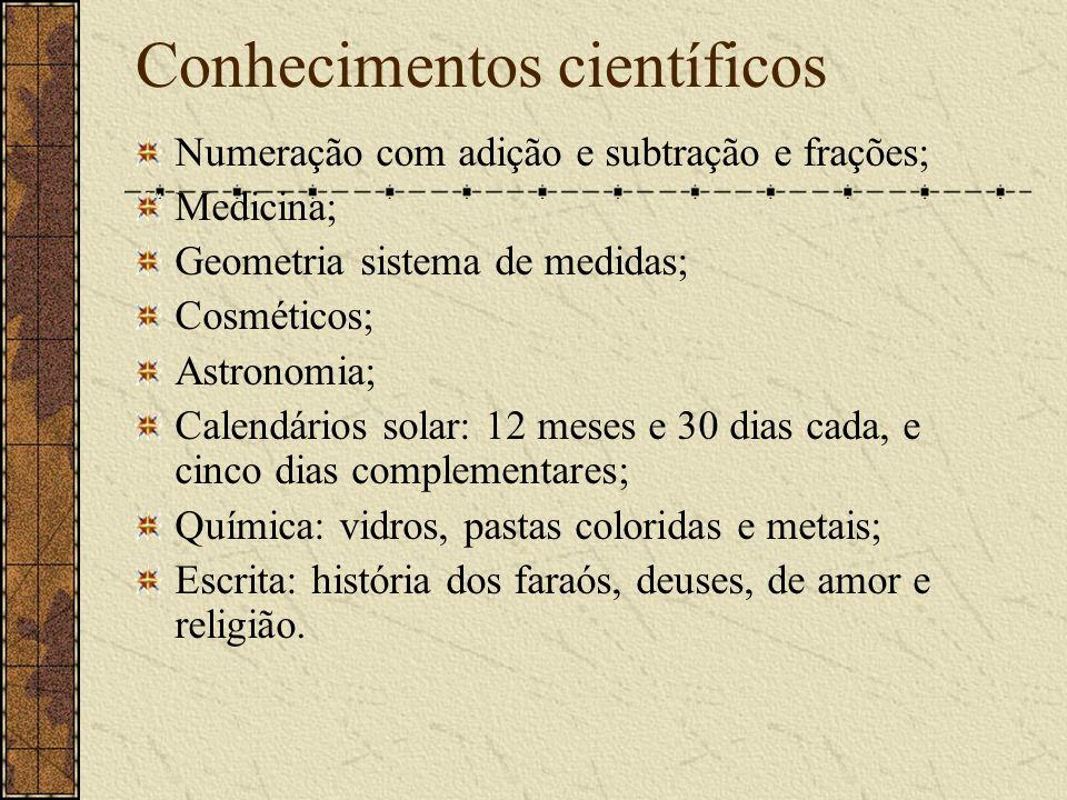 Conhecimentos científicos