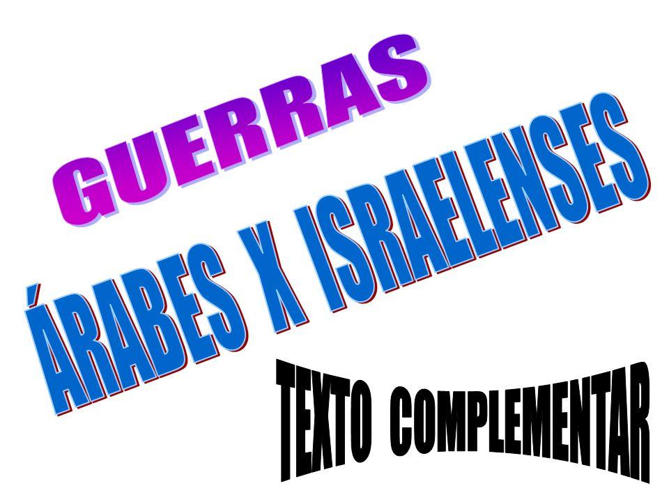 GUERRAS ÁRABES X ISRAELENSES TEXTO COMPLEMENTAR