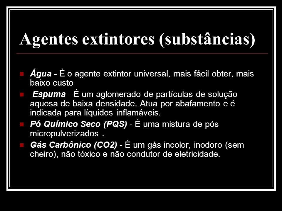 Agentes extintores (substâncias)