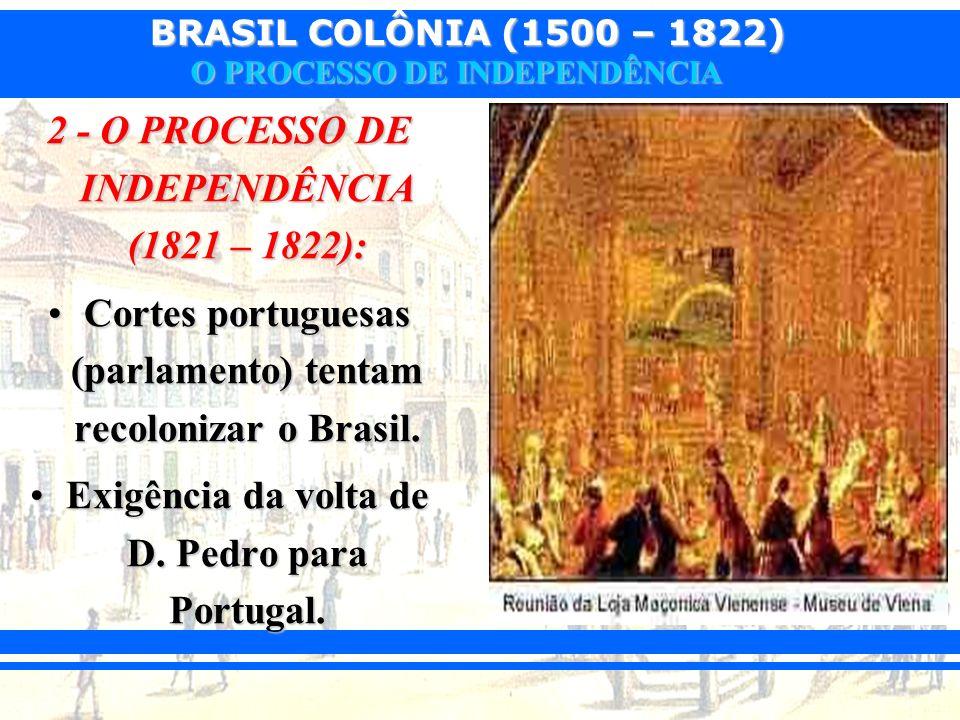 2 - O PROCESSO DE INDEPENDÊNCIA (1821 – 1822):