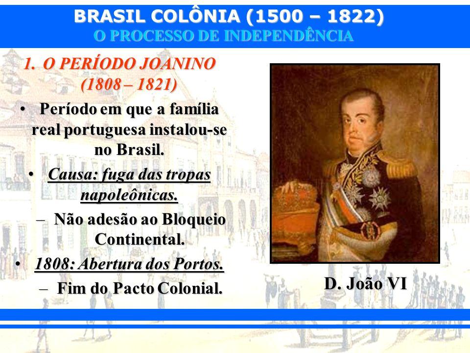 D. João VI O PERÍODO JOANINO (1808 – 1821)