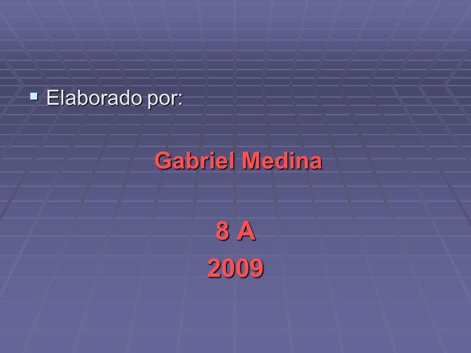 Elaborado por: Gabriel Medina 8 A 2009