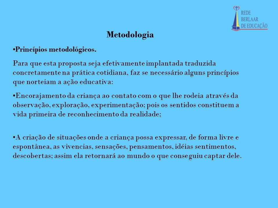 Metodologia Princípios metodológicos.