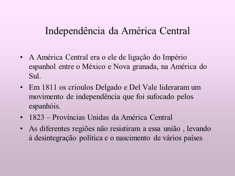 Independência da América Central