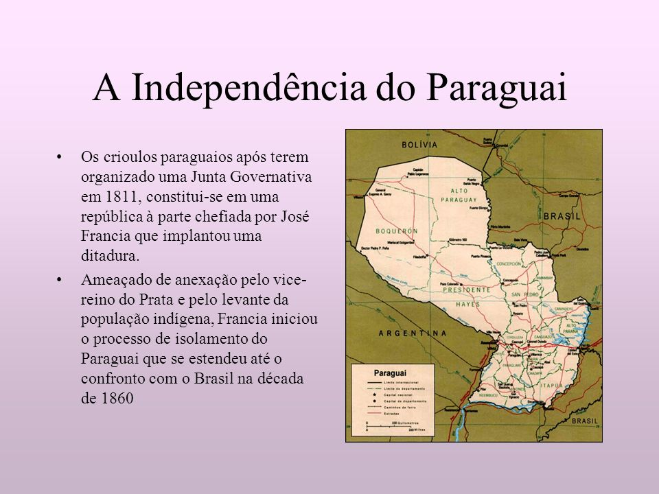 A Independência do Paraguai