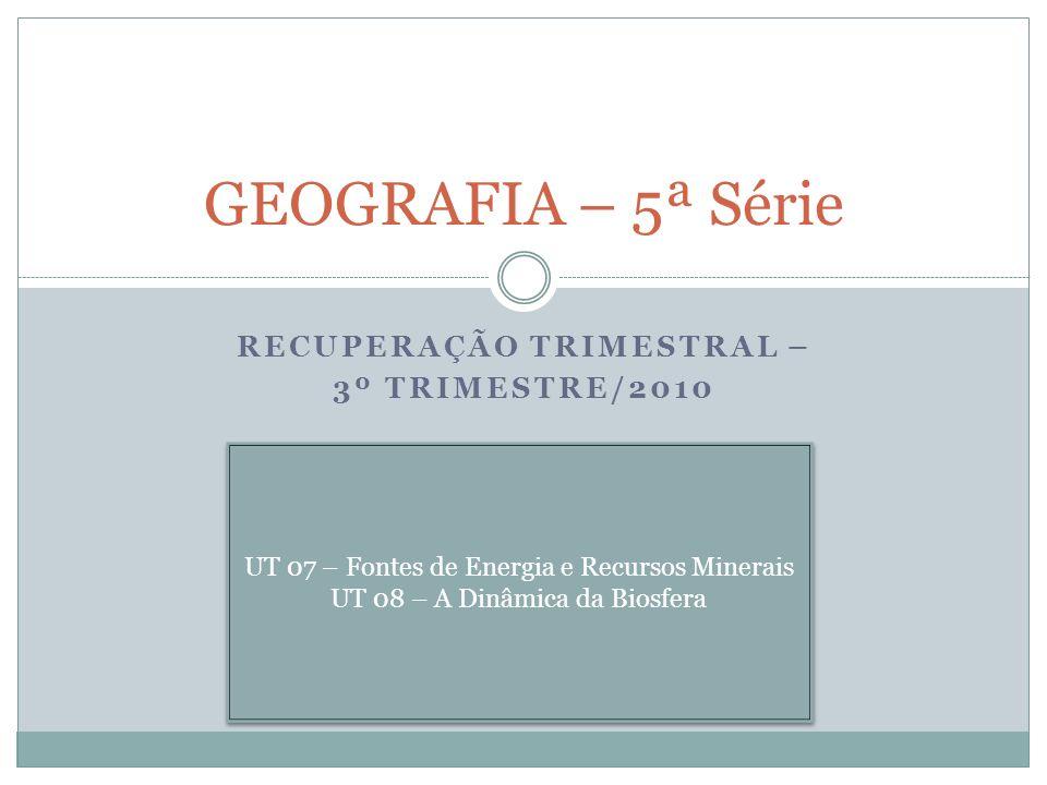 RECUPERAÇÃO TRIMESTRAL – 3º TRIMESTRE/2010