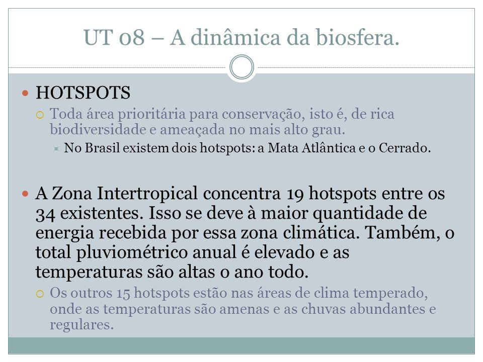 UT 08 – A dinâmica da biosfera.