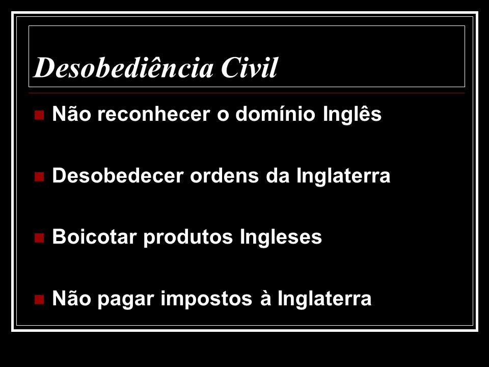Desobediência Civil Não reconhecer o domínio Inglês
