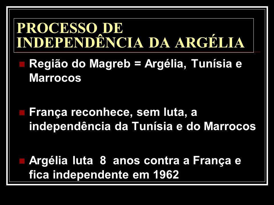 PROCESSO DE INDEPENDÊNCIA DA ARGÉLIA