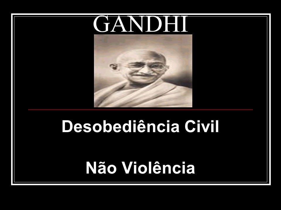 Desobediência Civil Não Violência