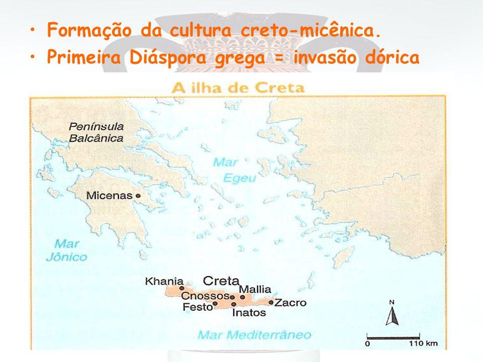 Formação da cultura creto-micênica.