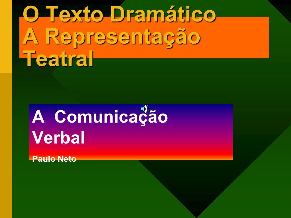 O Texto Dramático A Representação Teatral