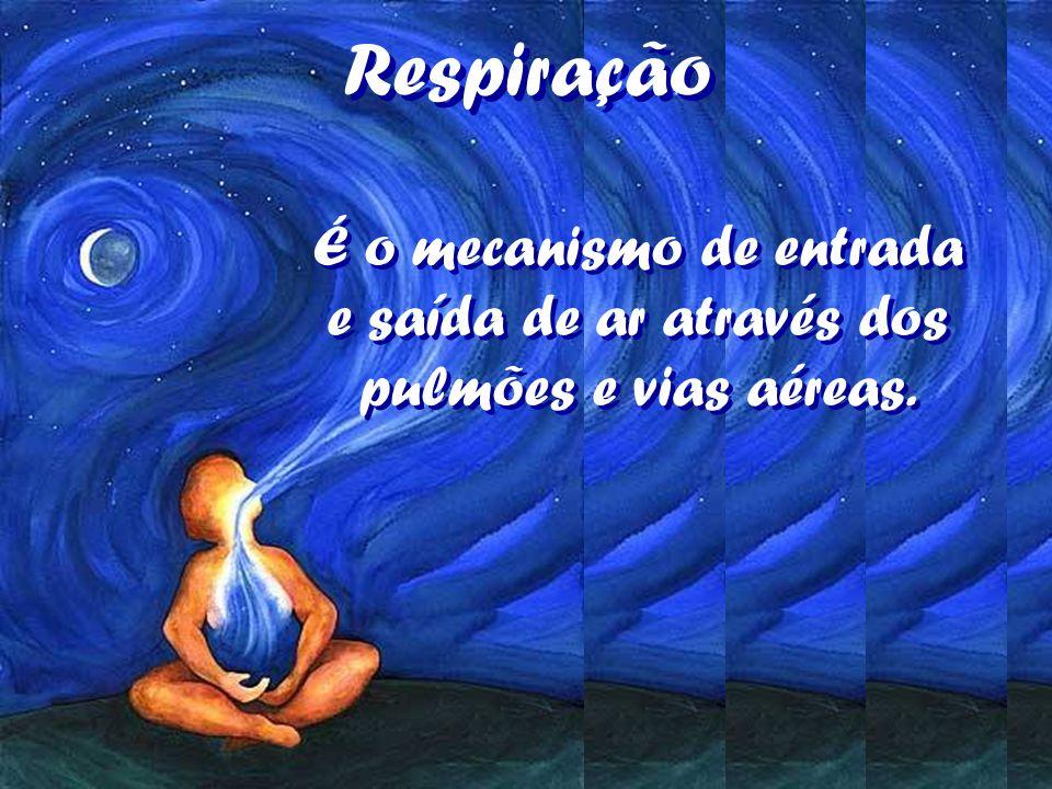 Respiração É o mecanismo de entrada e saída de ar através dos pulmões e vias aéreas.