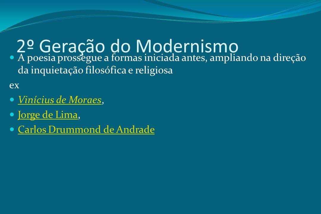 2º Geração do Modernismo