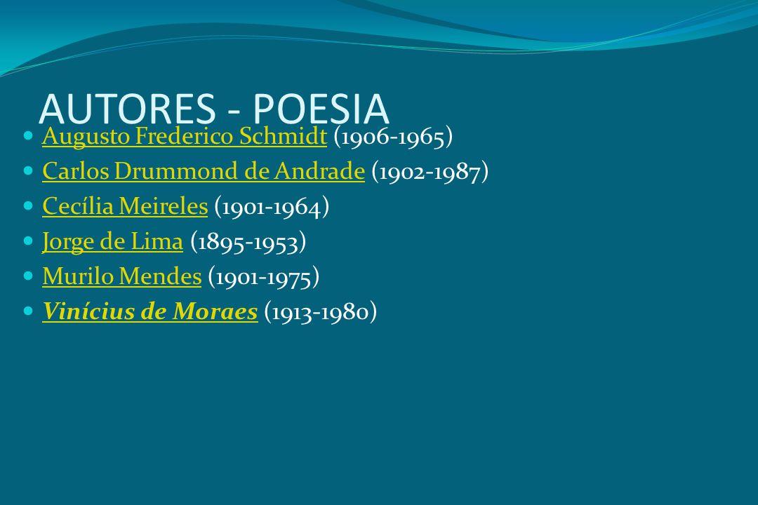 AUTORES - POESIA Augusto Frederico Schmidt (1906-1965)