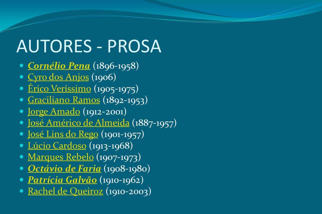 AUTORES - PROSA Cornélio Pena (1896-1958) Cyro dos Anjos (1906)