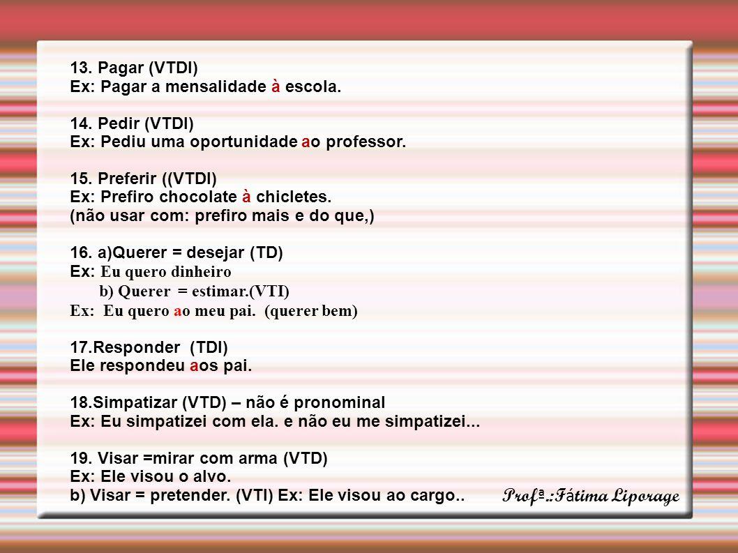 Profª.:Fátima Liporage